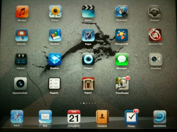 iPad Main Screen
