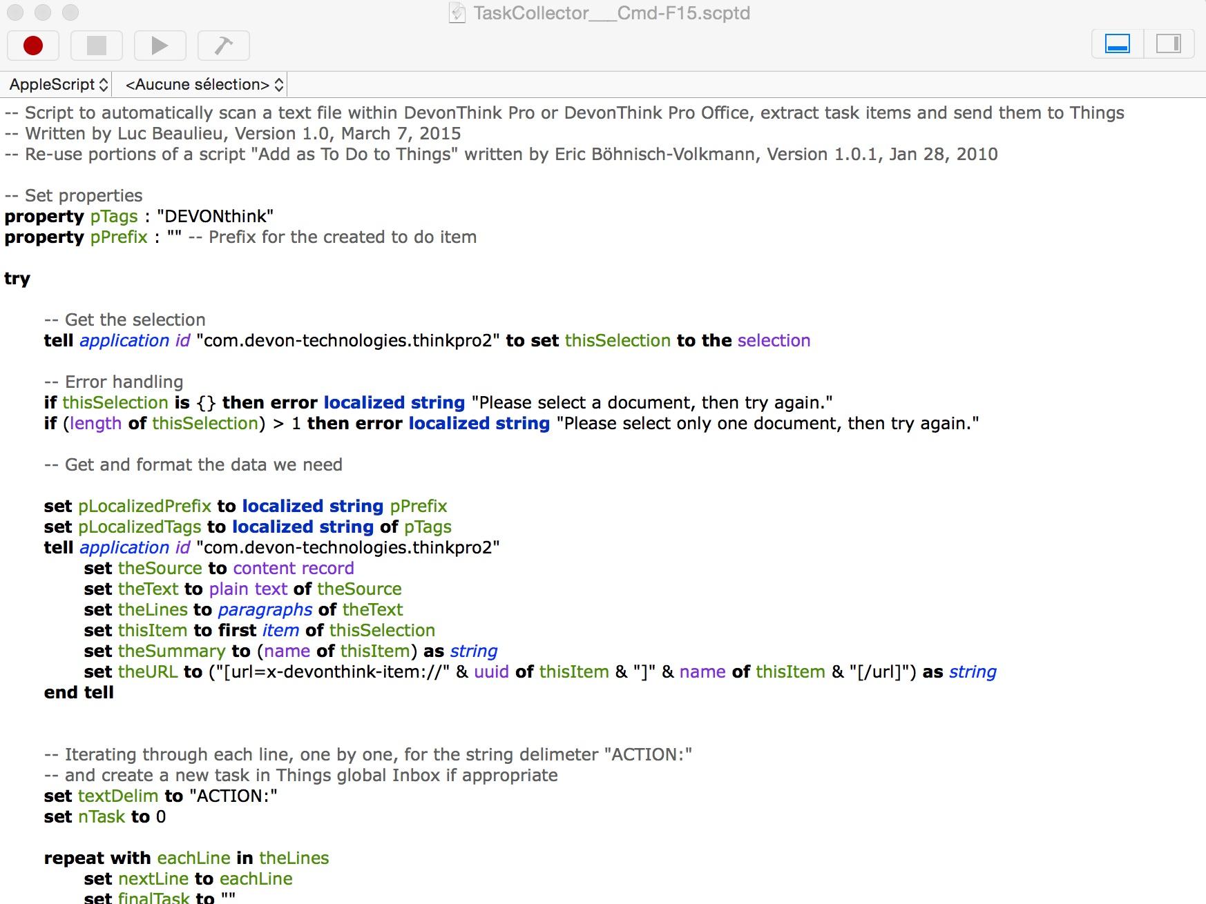 TaskCollector  Collection Note